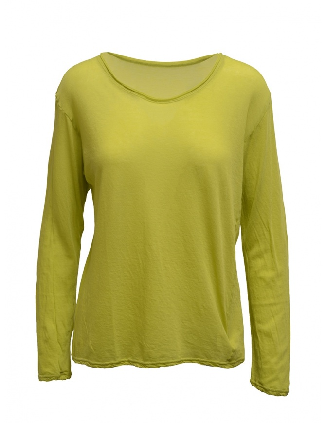 Plantation T-shirt manica lunga gialla PL99-JJ152 YELLOW t shirt donna online shopping