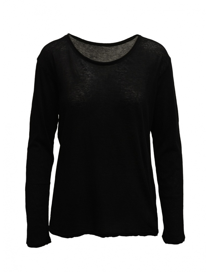 Plantation long-sleeve black t-shirt PL99-JJ152 BLACK womens t shirts online shopping