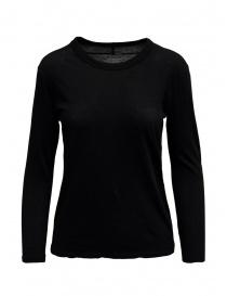 T-shirt Zucca a maniche lunghe nera scontati online