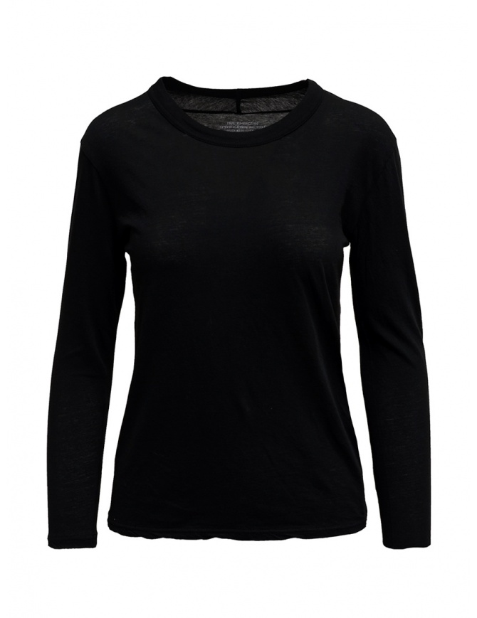 Zucca long sleeve black t-shirt ZU99JJ089 BLACK womens t shirts online shopping