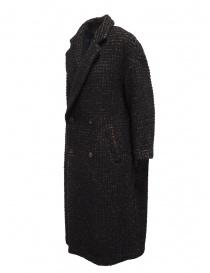 Zucca cappotto doppiopetto marrone a quadri prezzo