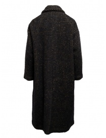 Zucca brown check double-breasted coat buy online