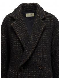 Zucca cappotto doppiopetto marrone a quadri cappotti donna acquista online
