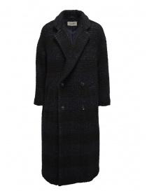 Zucca cappotto doppiopetto blu a quadri scontati online