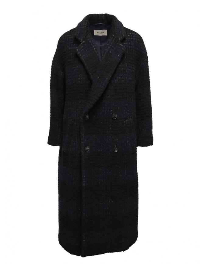 Zucca cappotto doppiopetto blu a quadri ZU99FA197 NAVY cappotti donna online shopping