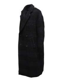 Zucca checkered blue double-breasted coat price