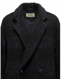 Zucca checkered blue double-breasted coat womens coats buy online