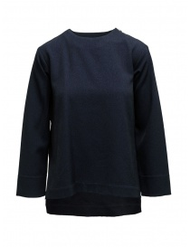 Zucca square-shaped blue sweater with three quarter sleeves online
