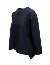 Zucca maglia blu taglio squadrato manica a tre quarti