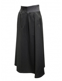 Plantation dark gray trapeze skirt