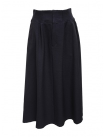 Womens skirts online: Plantation navy blue trapeze skirt