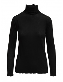 Womens t shirts online: Zucca turtleneck long-sleeve in black