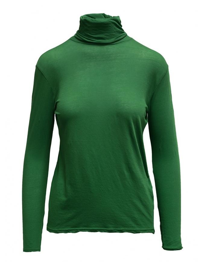 Zucca green cotton turtleneck ZU99JJ088 GREEN womens t shirts online shopping