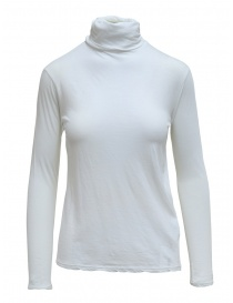 Womens t shirts online: Zucca white turtleneck in cotton