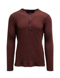 Mens knitwear online: Led Zeppelin X John Varvatos red ribbed henley