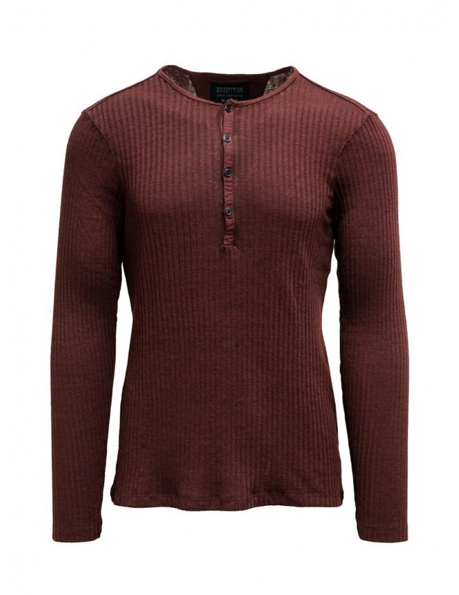 Led Zeppelin X John Varvatos maglia a coste rossa LZ-K3228V4 BNT21 C.BERRY 614 maglieria uomo online shopping
