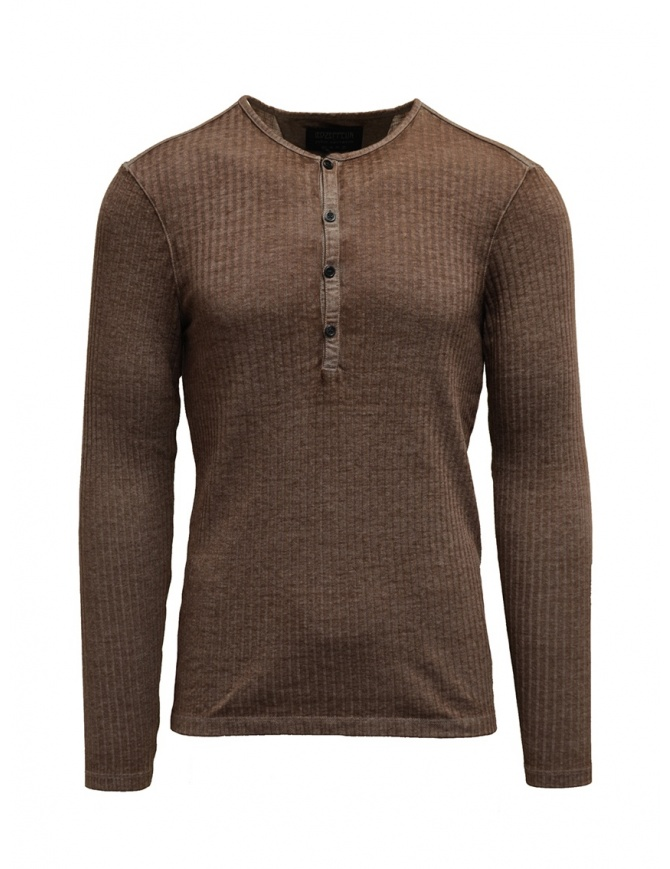 Led Zeppelin X John Varvatos ribbed oat color LZ-K3228V4 BNT21 OAT 276 mens knitwear online shopping