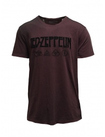 Led Zeppelin X John Varvatos T-shirt bordeaux with symbols LZ-KGR4791V4B BOZ25B BORD.604