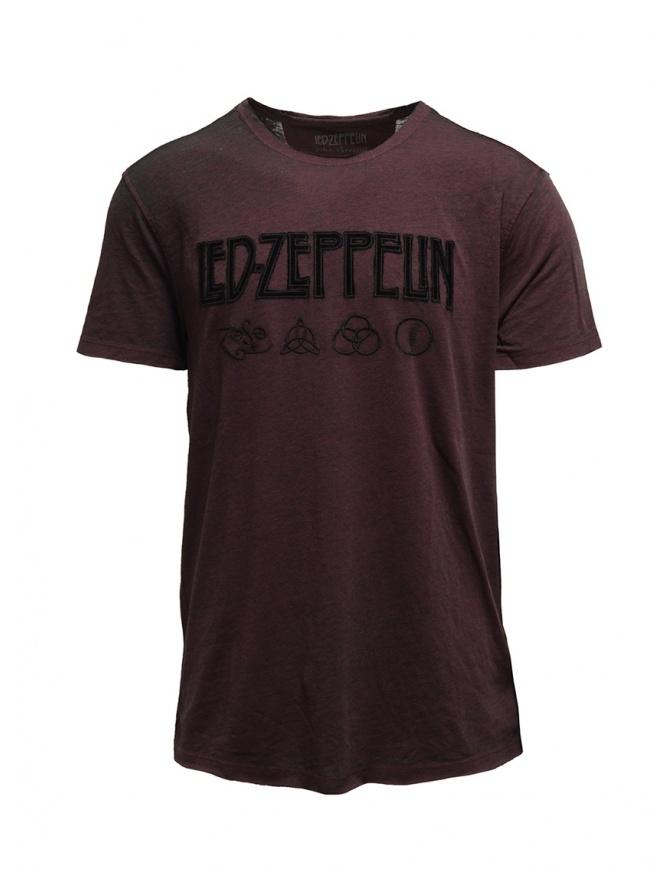 Led Zeppelin X John Varvatos T-shirt bordeaux simboli LZ-KGR4791V4B BOZ25B BORD.604 t shirt uomo online shopping