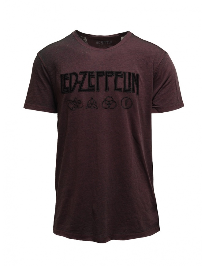 Led Zeppelin X John Varvatos T-shirt bordeaux with symbols LZ-KGR4791V4B BOZ25B BORD.604 mens t shirts online shopping