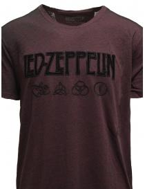 Led Zeppelin X John Varvatos T-shirt bordeaux simboli prezzo