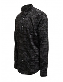 Led Zeppelin X John Varvatos gray floral shirt