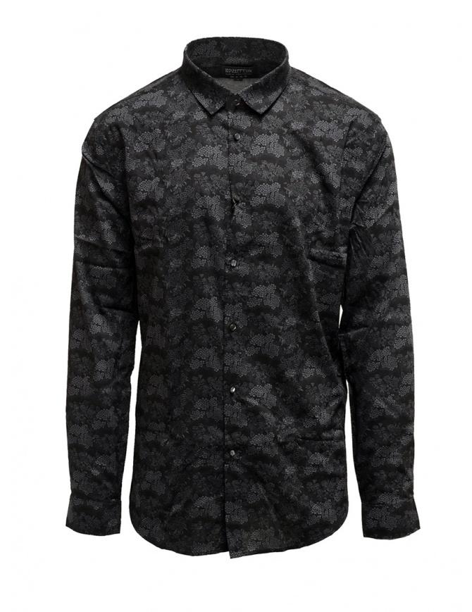 Led Zeppelin X John Varvatos camicia a fiori grigia LZ-W416V4 72KY GREY 021 camicie uomo online shopping