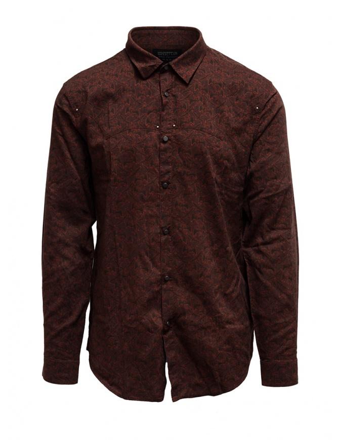 Led Zeppelin X John Varvatos camicia rossa argilla LZ-W676V4 72KX RED 618 camicie uomo online shopping