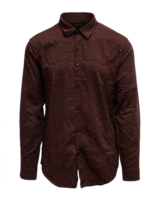 Led Zeppelin X John Varvatos clay red shirt LZ-W676V4 72KX RED 618 mens shirts online shopping