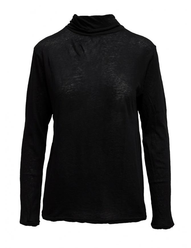 Plantation black cotton turtleneck PL99-JJ153 BLACK womens t shirts online shopping