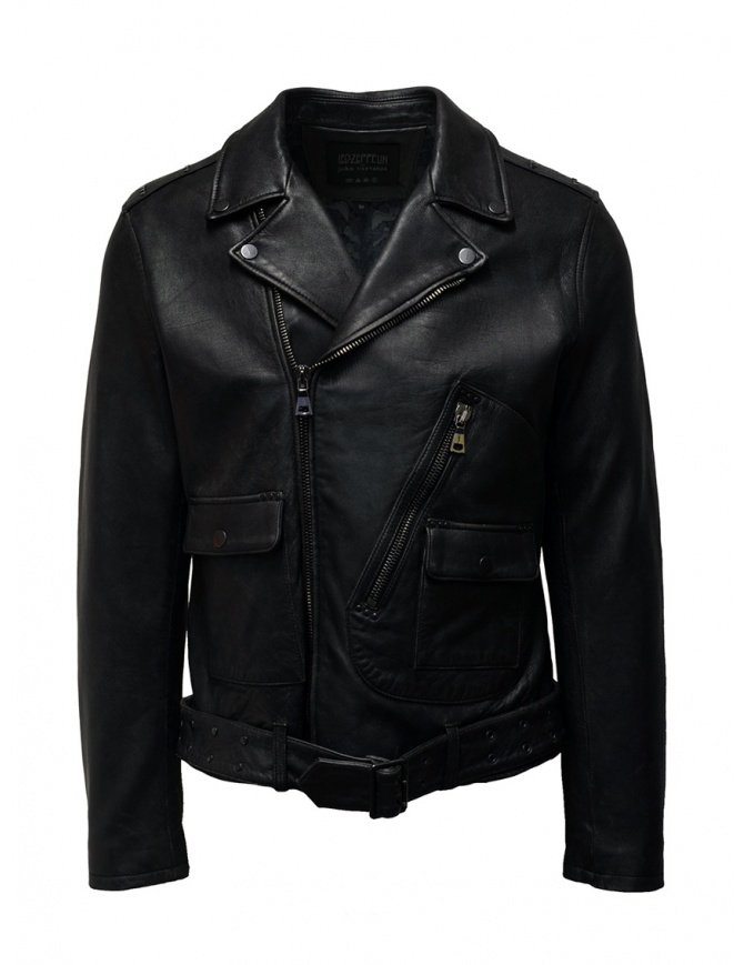 Led Zeppelin X John Varvatos leather jacket LZ-L1274V4 Y1027 BLACK 001 mens jackets online shopping