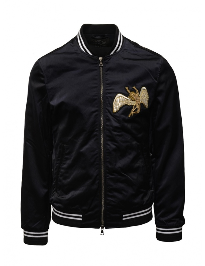 Led Zeppelin X John Varvatos black bomber jacket LZ-O1905V4 BQSH BLACK 001 mens jackets online shopping