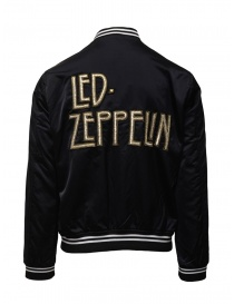 Led Zeppelin X John Varvatos black bomber jacket