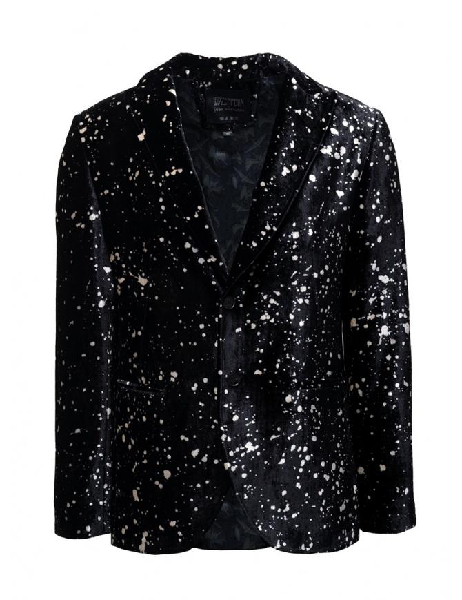 Led Zeppelin X John Varvatos blazer in velluto LZ-JVSO1876V4 BRDB BLACK 001 giacche uomo online shopping