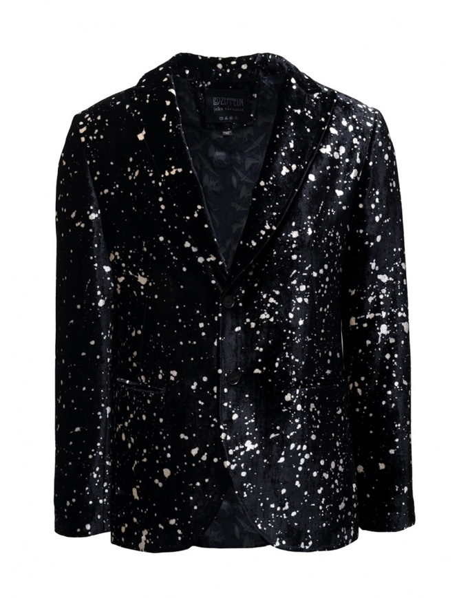 Led Zeppelin X John Varvatos velvet blazer LZ-JVSO1876V4 BRDB BLACK 001 mens suit jackets online shopping