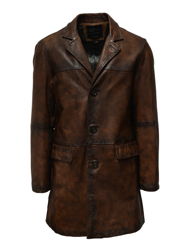 Led Zeppelin X John Varvatos leather coat LZ-L1273V4 Y1463 ESPRESSO 202 mens coats online shopping