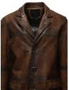 Led Zeppelin X John Varvatos cappotto in pelle LZ-L1273V4 Y1463 ESPRESSO 202 prezzo