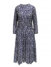 Sara Lanzi long-sleeved snake patterned blue dress 01MCSW81 SNAKE BLUE order online