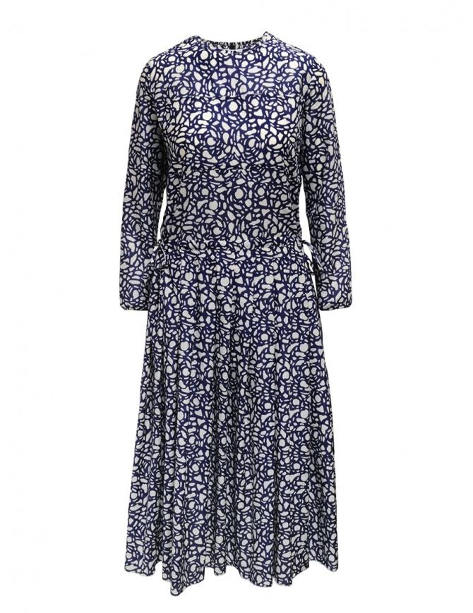 Sara Lanzi long-sleeved snake patterned blue dress 01MCSW81 SNAKE BLUE womens dresses online shopping