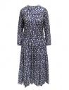 Sara Lanzi long-sleeved snake patterned blue dress buy online 01MCSW81 SNAKE BLUE