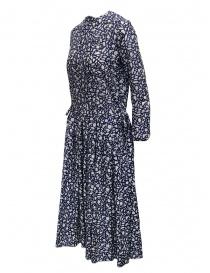 Sara Lanzi long-sleeved snake patterned blue dress