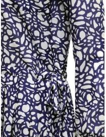 Sara Lanzi long-sleeved snake patterned blue dress womens dresses buy online