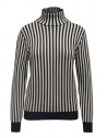 Sara Lanzi white and blue striped turtleneck buy online 03RWV.81 NAVY/WHT