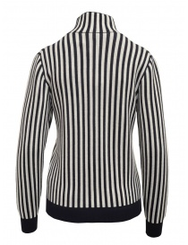 Sara Lanzi white and blue striped turtleneck