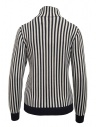 Sara Lanzi white and blue striped turtleneck shop online womens knitwear