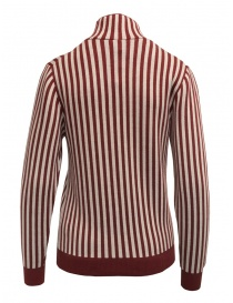 Sara Lanzi red and white striped turtleneck