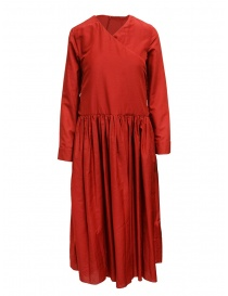 Sara Lanzi abito rosso gonna a pieghe 03RWV261 RED order online
