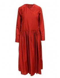 Sara Lanzi pleated skirt red dress 03RWV261 RED order online