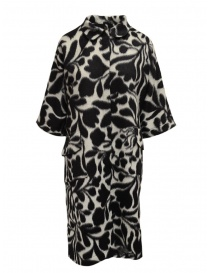 Sara Lanzi cappotto bianco a fiori neri 02CWV191 FLOWERED order online
