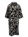 Sara Lanzi cappotto bianco a fiori neri acquista online 02CWV191 FLOWERED